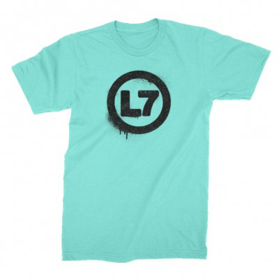 l7 - Spray Logo Tee (Lagoon Blue)