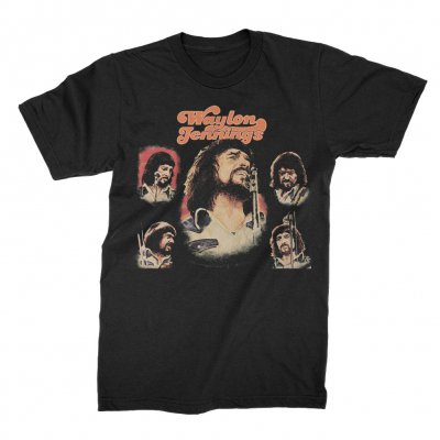 waylon-jennings - Texas 74 Tee (Black)