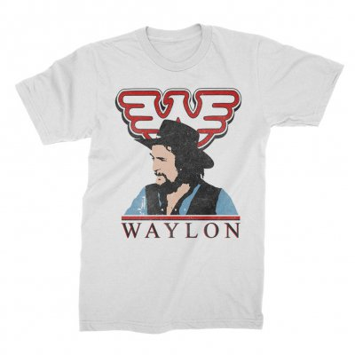 waylon-jennings - Colorized Tee (White)