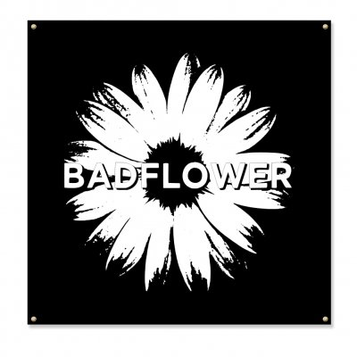 "badflower - Daisy Logo Flag (48"" x48"")"