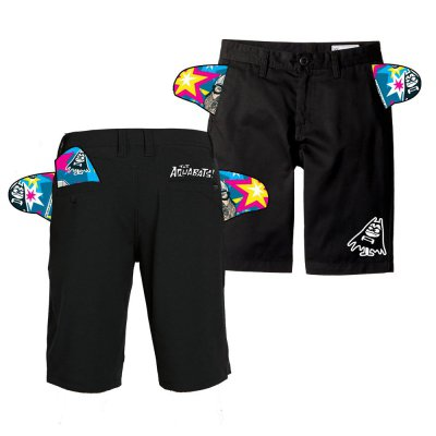 the-aquabats - Nano Bat Shorts (Black)