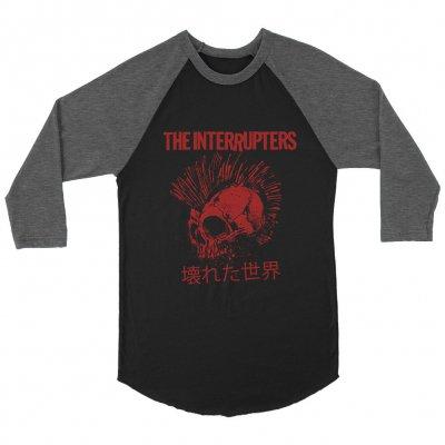 the-interrupters - Broken World Raglan (Blk/Hthr Char)