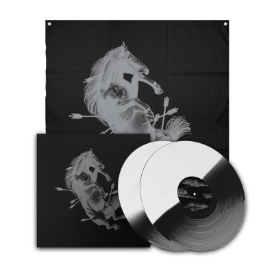 Dead Horse X Deluxe Vinyl Book (White/Black) + Flag Bundle