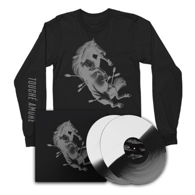 touche-amore - Dead Horse X Deluxe Vinyl Book (White/Black) + Long Sleeve Bundle