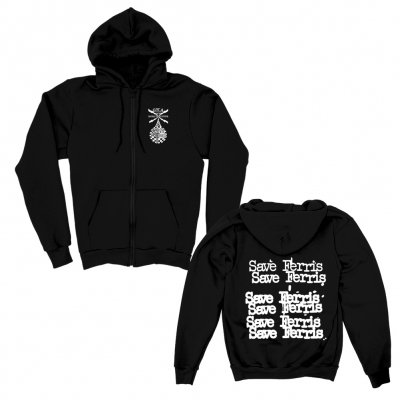 save-ferris - Cheap Logo Zip-Up Hoodie (Black)
