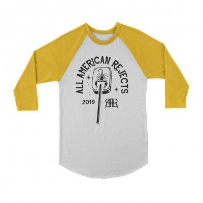 Scorpion Raglan (Yellow/White)