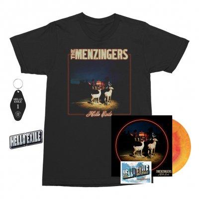 the-menzingers - Hello Exile LP (Sunburst) + Flexi + Cover Tee (Black) + Keychain + Pin Bundle