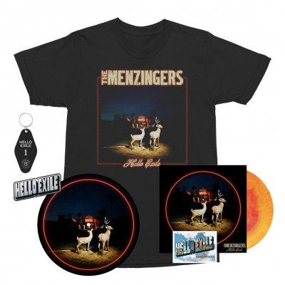 the-menzingers - Hello Exile LP (Sunburst) + Flexi + Cover Tee (Black) + Keychain + Pin + Slipmat Bundle