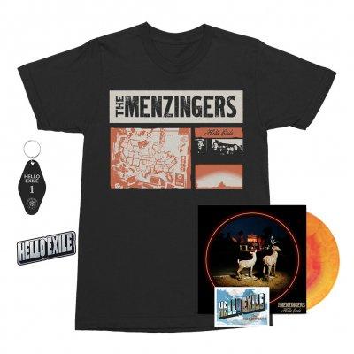 the-menzingers - Hello Exile LP (Sunburst) + Flexi + Collage Tee (Black) + Keychain + Pin Bundle
