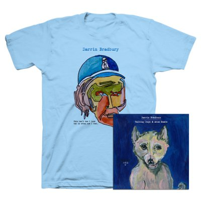 Darrin Bradbury - Talking Dogs & Atom Bombs CD + Tee (Light Blue) Bundle