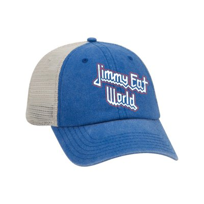 Priest Trucker Hat (Blue/White)