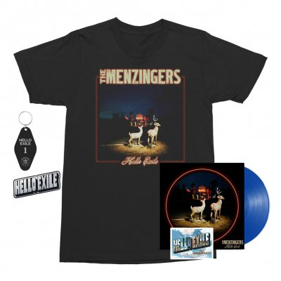 the-menzingers - Hello Exile LP (Blue) + Flexi + Cover Tee (Black) + Keychain + Pin Bundle