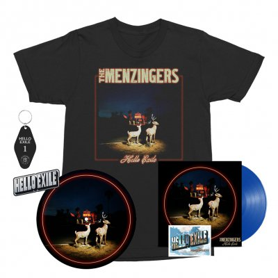 the-menzingers - Hello Exile LP (Blue) + Flexi + Cover Tee (Black) + Keychain + Pin + Slipmat Bundle