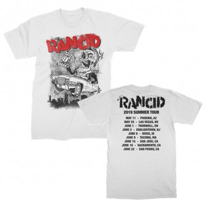 rancid - Cadillac 2019 Summer Tour T-Shirt (White)