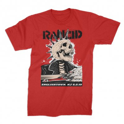 rancid - Englishtown 2019 Tour T-Shirt (Red)