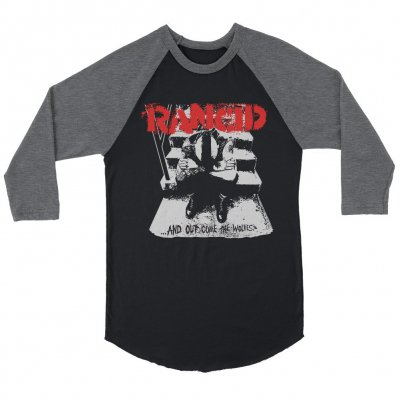 rancid - And Out Come The Wolves Raglan (Black/Heather Char