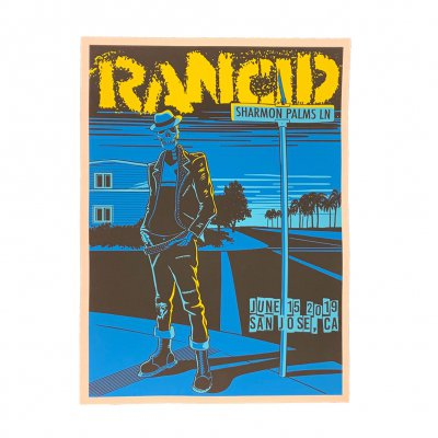 rancid - San Jose 2019 Tour Print