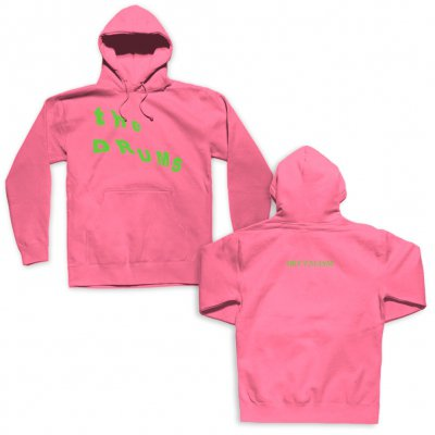 the-drums - Slant Neon Green Logo Pullover (Pink)