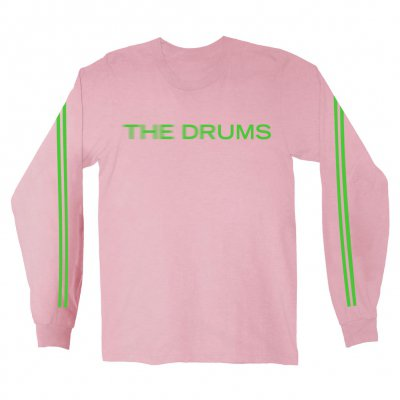 the-drums - Blur Logo Long Sleeve (Light Pink)