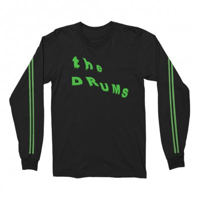 the-drums - Slant Neon Green Drip Long Sleeve (Black)