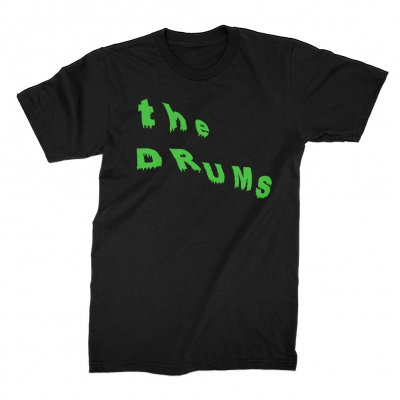 the-drums - Slant Neon Green Drip Tee (Black)