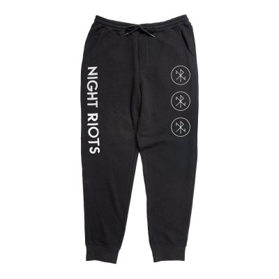 night-riots - Logo Sweatpants (Black)