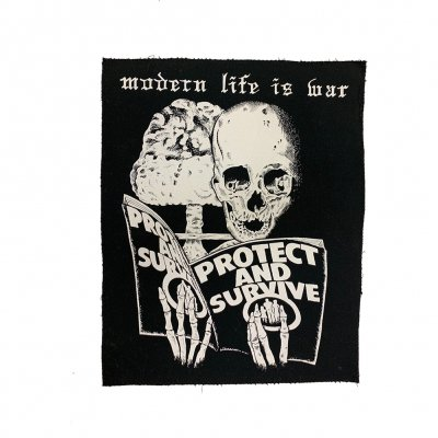 modern-life-is-war - Protect and Survive Back Patch