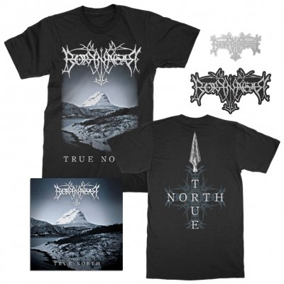 borknagar - Album T-Shirt + CD + Pin + Die Cut Patch