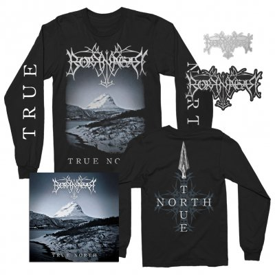 borknagar - Album LS + CD + Pin + Die Cut Patch