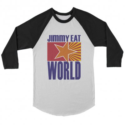 jimmy-eat-world - Star Raglan (Black/White)