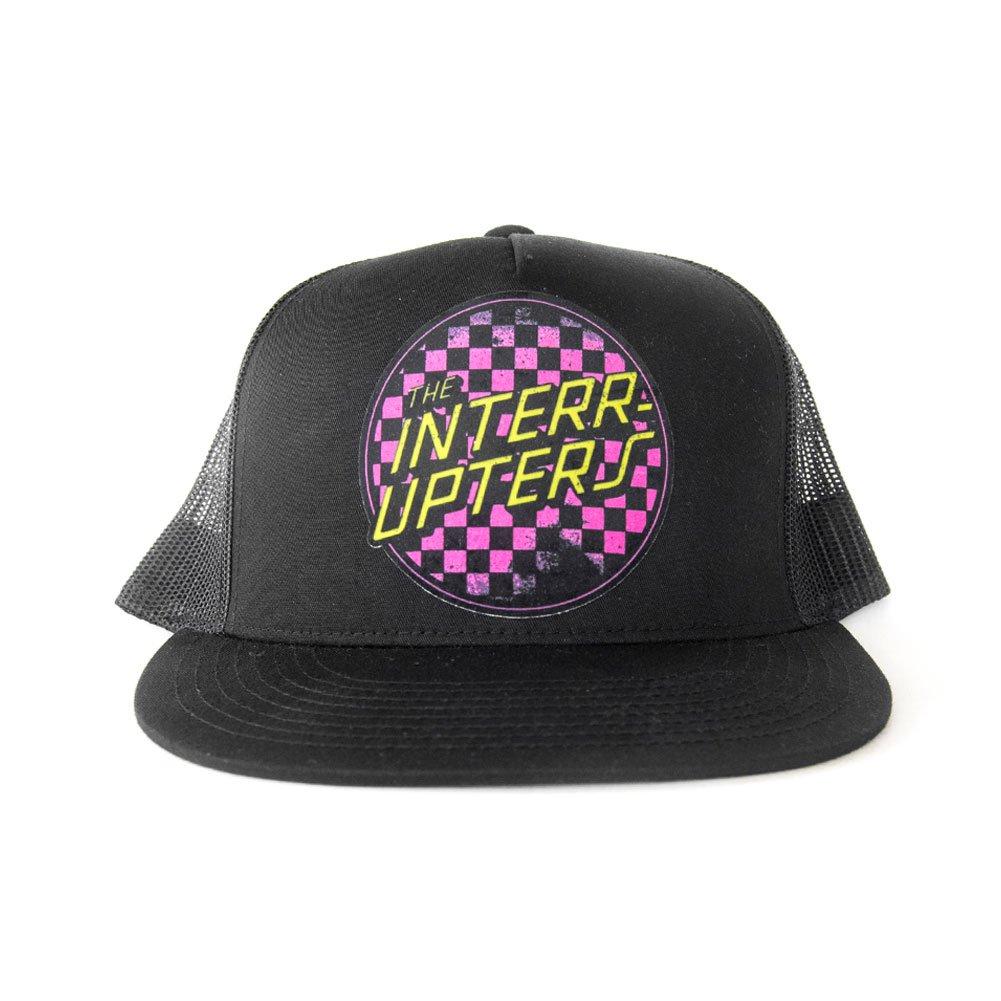 IMAGE | Checkered Trucker Hat (Pink/Yellow)
