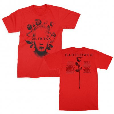 badflower - OK I'm Sick Tour Tee (Red)