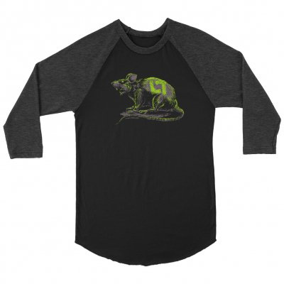 Rat Raglan (Black/Heather Charcoal)