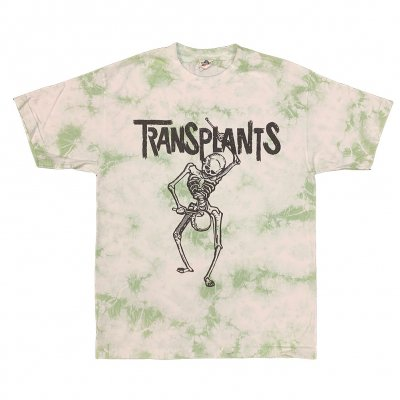 the-transplants - Skeleton Tee (Green Dye)