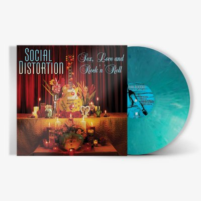 social-distortion - Sex, Love And Rock N' Roll LP (Mixed Opaque Teal)