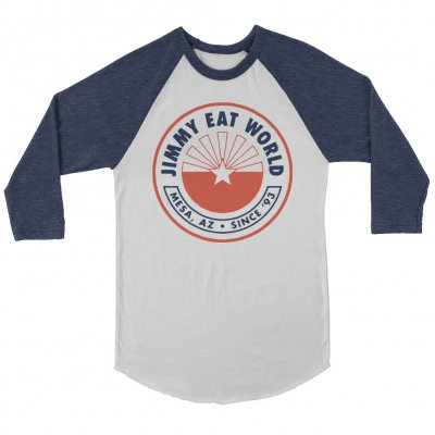 jimmy-eat-world - Rising Star Raglan (White/Blue)