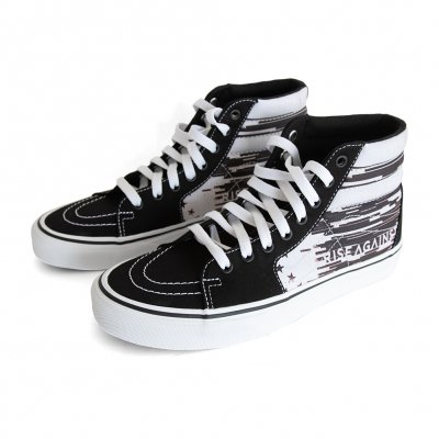 rise-against - Custom Vans Sk8-Hi Shoes