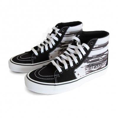 rise-against - Custom Vans Sk8-Hi Shoes