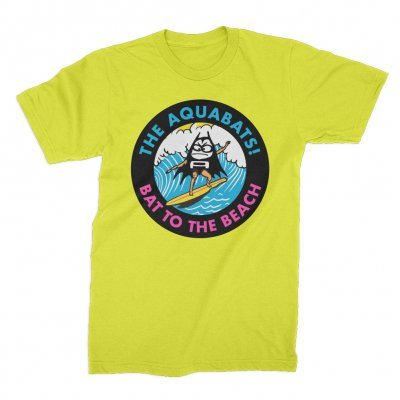the-aquabats - Bat To The Beach Tee (Neon Yellow)
