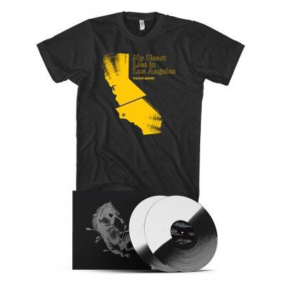 touche-amore - Dead Horse X Deluxe Vinyl Book (White/Black) + LA Tee (Black) Bundle