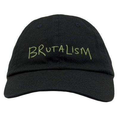 Brutalism Dad Hat (Black)