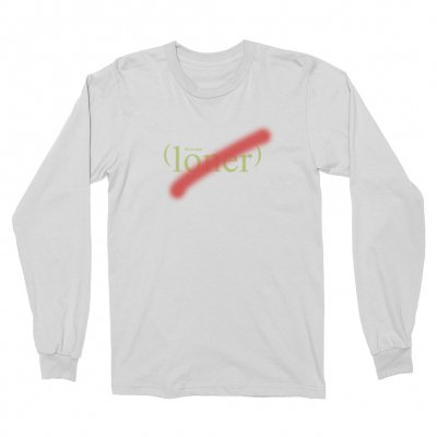 the-drums - Loner Long Sleeve (White)