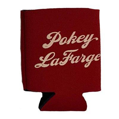pokey-lafarge - Pokey LaFarge Logo Coozie (Red)