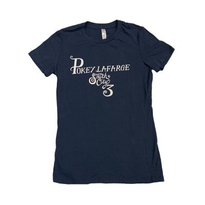 pokey-lafarge - And The South City 3 Womens Tee (Navy)