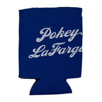 pokey-lafarge - Logo Coozie (Blue)