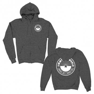 jimmy-eat-world - Rising Star Lightweight Zip Up Hoodie (Heather Cha