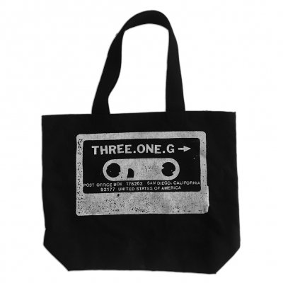 Cassette Logo Big Tote Bag (Black)