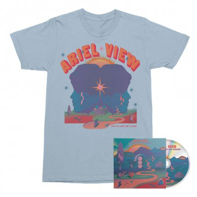 Ariel View - Until My Lungs Are Cleared CD + Tee (Baby Blue) Bundle