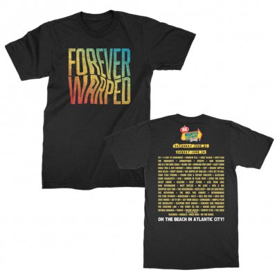 vans-warped-tour - 2019 Forever Warped Mountain View Tour Tee (Black)