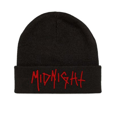 midnight - Red Logo Beanie (Black)